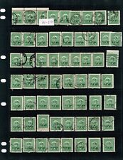 Canada 1949-59 OHMS ovprint on the War & Peace Issues Mutiples, variety #O1-O9