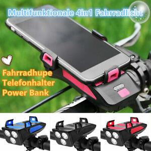 Radfahren Fahrrad Power Bank Handy Halter Horn Frontscheinwerfer Halterung BD