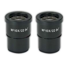 A Pair WF10X/22 Eyepiece f/ Stereo Microscope High Eye-point Wide Field Mount 30