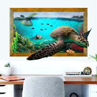3D Ocean Sea Turtles Room Home Decor Removable Wall Stickers Decals Decoration