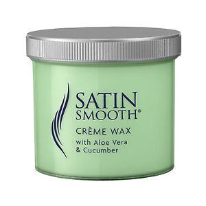 Satin Smooth Green Creme Sensitive Wax With Aloe Vera & Cucumber 425g Tub