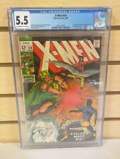 New listing X-Men #54 Cgc 5.5 (Marvel 1969) 1st Appearance of Alex Summers / Living Pharaoh