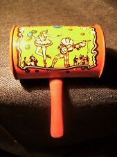 Vintage 1920's Tin Litho Noise Maker Kirchhof-LIFE OF THE PARTY-Drum Rattle GUC