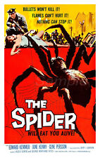 VINTAGE THE SPIDER HORROR MOVIE POSTER A4 PRINT