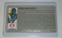 CUSTOM 1992 GI Joe Cobra Green Ninja Viper v1 Figure Uncut Red Back File Card