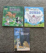 WALT DISNEY'S BOOKS, LOT OF 3 - LADY AND THE TRAMP, BAMBI, DUMBO - SOFTCOVER