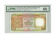 1989 Hong Kong HSBC $1000 Dollars Gem-Uncirculated PMG 66 Colony Logo