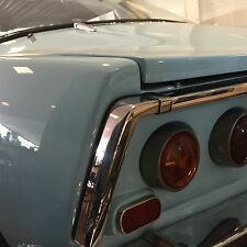 Matra M530 Chrome rear part by tail lights on trunk a set in inox rvs stainless