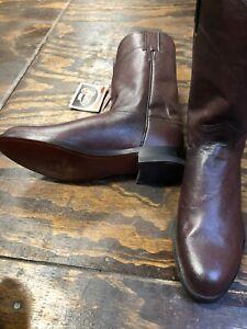 Justin Men's Boots Roper Size 8.5 EE Black Cherry, Last Pair