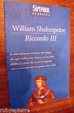 Riccardo III William Shakespeare SuperBur 2001 Super Bur classici n 165 BELLO
