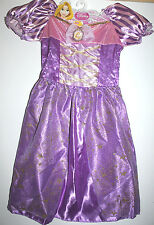 DISNEY PRINCESS RAPUNZEL FANTASY PLAY COSTUME DRESS GIRLS AGES 3 & UP SZ 4-6X