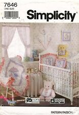 1990's VTG Simplicity Baby Room Essentials Pattern 7646