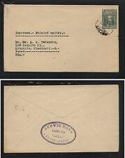 Bolivia postal envelope to Us Mm0604