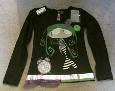 GIRLS DESIGUAL SHIRT – TRAINSPOTTING – BLACK - RARE (SOLD OUT) - SIZE 5/6 – NWT!