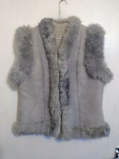 WOMANS VINTAGE AFGHAN STYLE GENUINE SHEARLING SHEEPSKIN JACKET SIZE 8 / 10