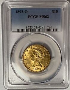 1892-O LIBERTY GOLD EAGLE PCGS MS62 — REGISTRY COIN — MINTAGE 28,688!!