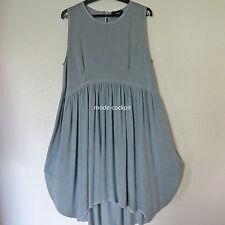 >>Chalona>>statt 145,- Ballon Kleid Lagenlook Vintage blau Viskose Gr. 48-50 (3)