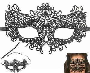 Lace Blindfold Eye Mask Bondage Sexy Women Sex Toy Restraints Black BDSM UK