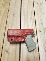 Concealment IWB Blood Red Carbon Fiber KYDEX Holster Fits Glock 26, 27, 33