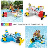 Intex Water Gun Plane Ride-On Kids Swimming Pool Beach Inflatable Fun Summer Toy