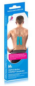 RÜCKEN TAPE muskulär - Kinesiologie Pre Cut Physio Tape vorgeschnitten - Aktion!