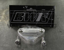 Blackworks Racing EGR Block Off Plate 92-00 ACCORD F22 F23 & PRELUDE H22 Silver