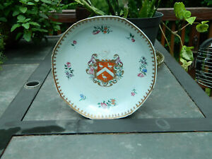 Antique Chinese export Armorial Porcelain Plate