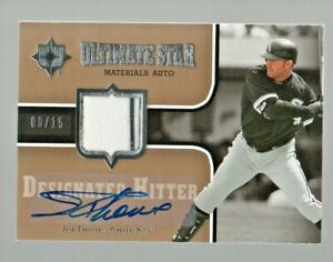 2007 Ultimate Collection Ultimate Star Materials Auto Jim Thome #'d 9/15 SP