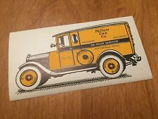 2 ORIGINAL 1920's YELLOW CAB COMPANY Unused Package Freight Delivery Labels