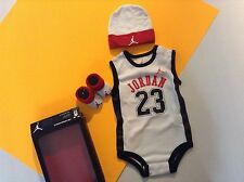 New Baby boy clothes size 0-6 months 0/3/6 Micheal Jordan Chicago Bulls 3 pc Set