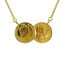 The Original Classic Two Coin Necklace - Celeb Jewellery Rose Gold Plate 22ct