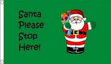 Papá Noel de freno Aquí BANDERA 7.6cmx5.1cm Navidad Celebración Decoración