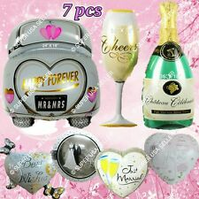 Just Married Car Wedding Bridal Shower Engagement Party Decor Foil Balloons lot