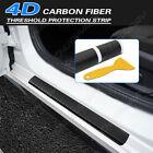 Car Accessories Carbon Fiber Stickers Door Sill Protector For Suv Sedan Parts