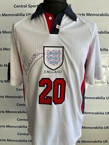 Michael Owen Signed England 1998 Replica Shirt Signed Front / Back Brand New-COA