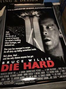 DIE HARD Movie POSTER 24x36 1988 Bruce Willis Action Adventure