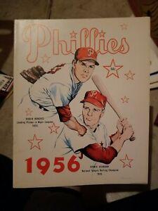 1956 Philadelphia Phillies Yearbook Robin Roberts Richie Ashburn