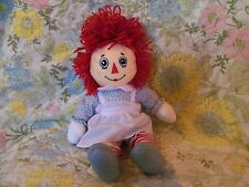 """Raggedy Anne cloth doll 95th anniversary edition 13"""" excellent"""