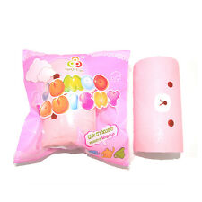 Cute Jumbo Squishy Rilakkuma Swiss Roll Slow Rising Hand Pillow Cartoon Soft Toy