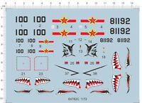 1/72 J-15 Fighter Shark Warning logo Model Kit Water Decal
