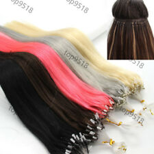 "Micro Ring Beads Easy Loop Remy Real Human Hair Extensions Straight 24""70g 100s"