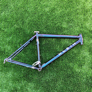 """Vintage Klein Attitude Mountain Bike Frame Large 19.5 Black/Green/Purple 26"""" MTB"""