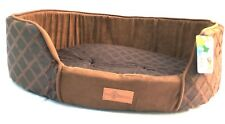 Pet Obsessed 'Choc Cosy' Enclosed Large Dog Bed