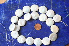 Perlen SWZP-Strang(Chips, grau, 20x5,5mm) I-0015/I