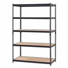 "Muscle Rack 48""W x 24""D x 72""H 5-Shelf Steel Shelving, Black Brand NEW"