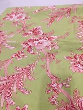 Pottery Barn Pink Green Red Toile Pillow Sham Standard