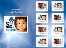 Collector privé de 8 timbres pour fêter 50ans de l'association terre solidaire