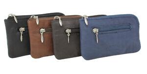 Leder Schlüsseltasche Schlüsseletui Schlüssel Tasche Etui Minibörse klein ST-2