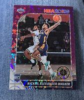 ⭐️2019-20 NBA Hoops Premium NICKEIL ALEXANDER-WALKER RC #214, Purple Disco Prizm