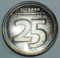 """Beiersdorf AG - Silber-Medaille """"In Anerkennung Ihrer Mitarbeit in 25 Jahren"""" PP"""